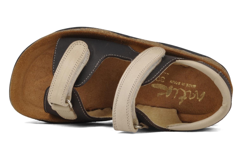 Sandales et nu-pieds Natik B-563 Marron vue gauche