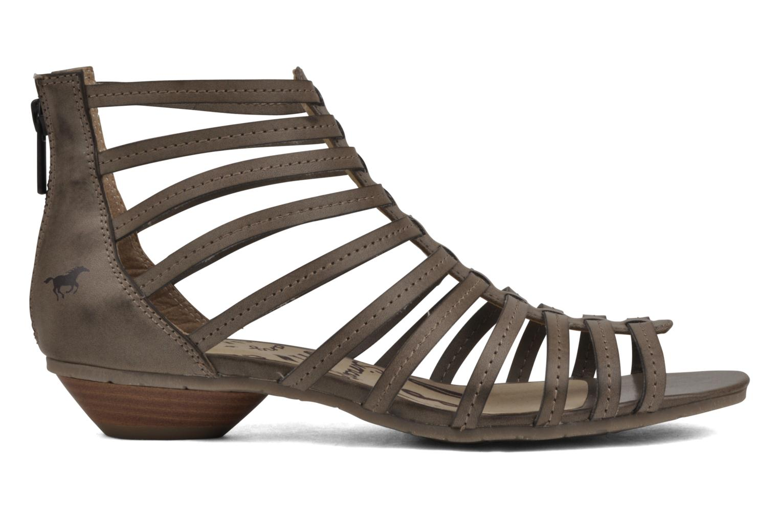 Sandals Mustang shoes Runy Beige back view