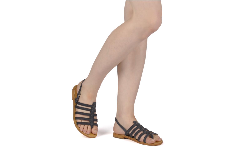 Sandales et nu-pieds Les Tropéziennes par M Belarbi Hook Noir vue bas / vue portée sac