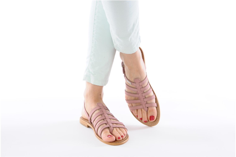 Sandales et nu-pieds Les Tropéziennes par M Belarbi Hook Rose vue bas / vue portée sac