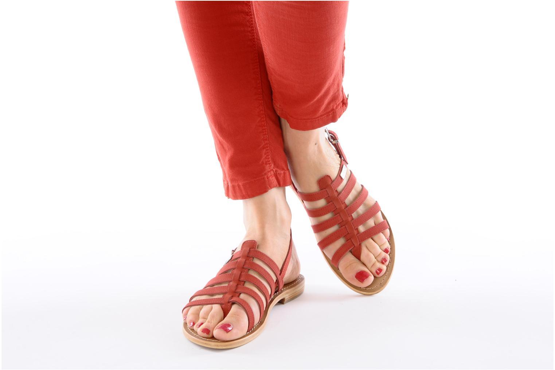 Sandales et nu-pieds Les Tropéziennes par M Belarbi Hook Rouge vue bas / vue portée sac
