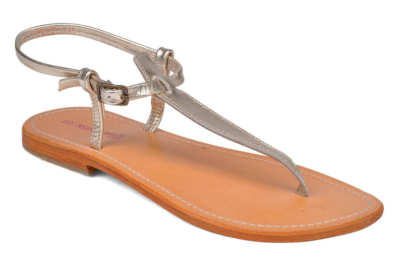Sandaler Les Tropéziennes par M Belarbi Narvil Guld og bronze detaljeret billede af skoene