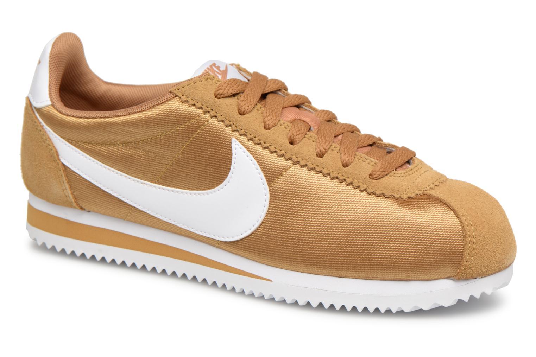Zapatos especiales para hombres y mujeres Nike Wmns Classic Cortez Nylon (Oro y bronce) - Deportivas en Más cómodo