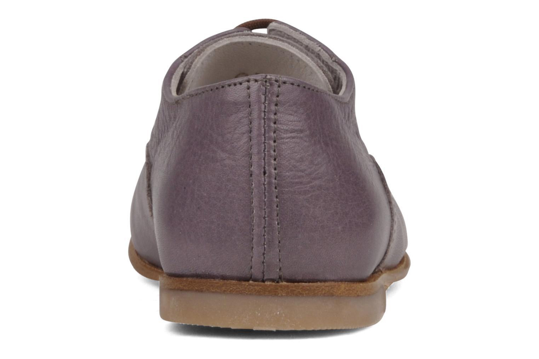 Zapatos con cordones PèPè Coma Violeta      vista lateral derecha