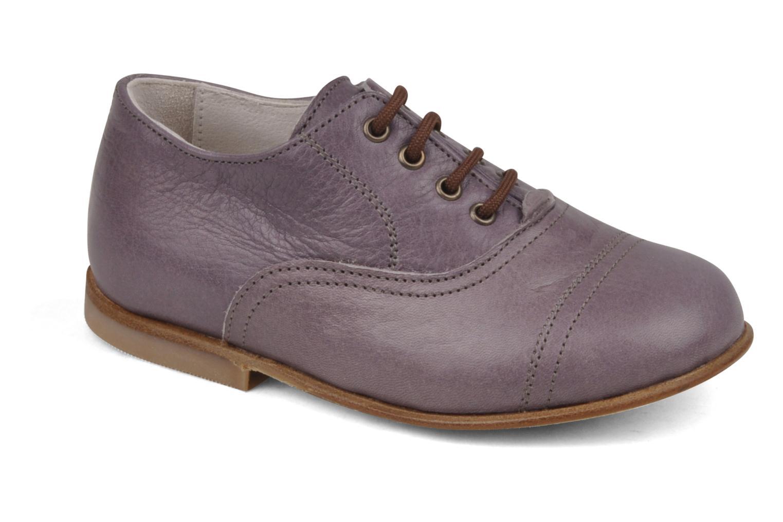 Chaussures à lacets PèPè Coma Violet vue détail/paire
