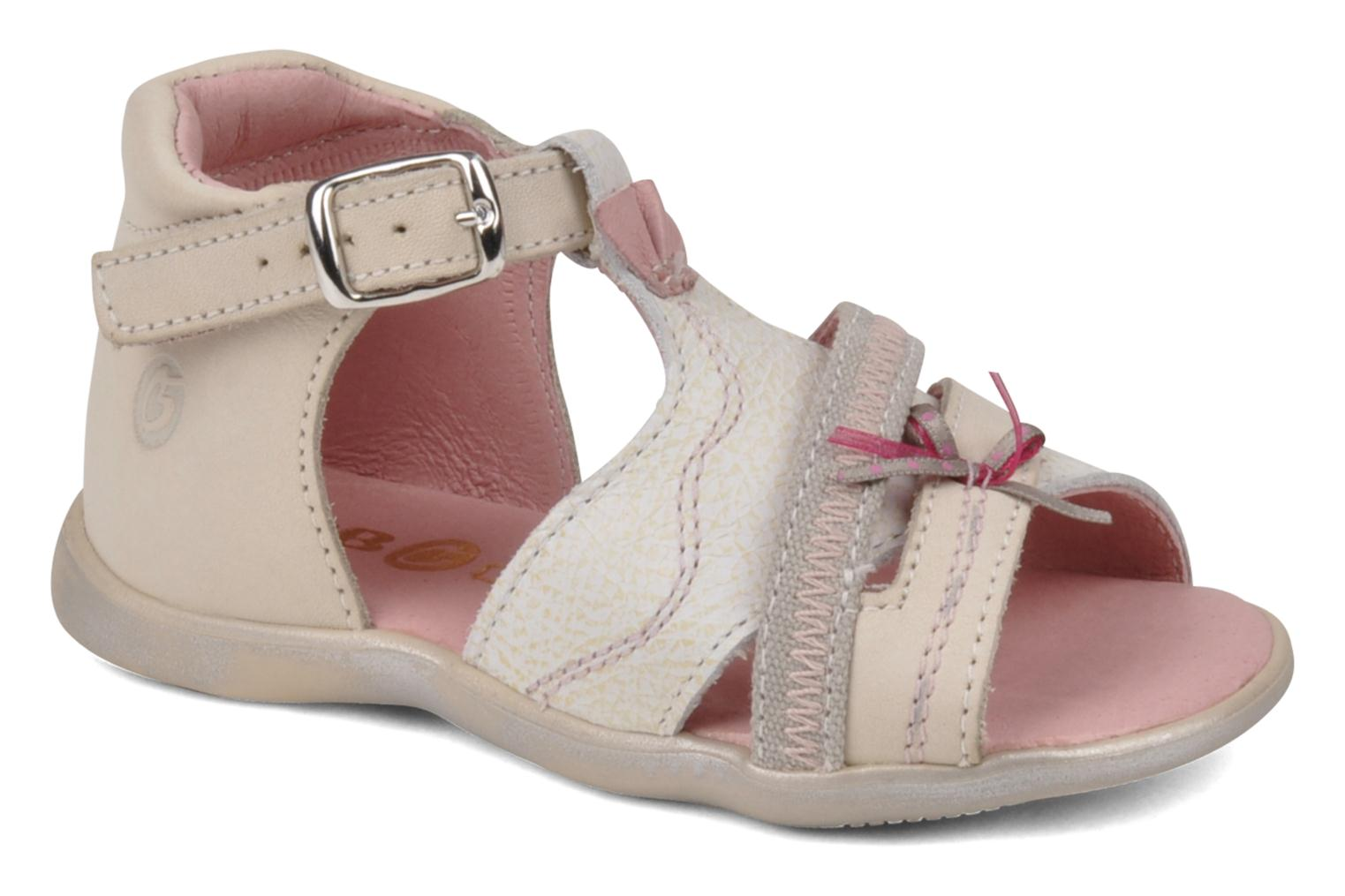 Sandals GBB Lorie Beige detailed view/ Pair view