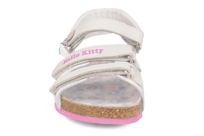 Sandales et nu-pieds Hello Kitty Kijou Blanc vue portées chaussures