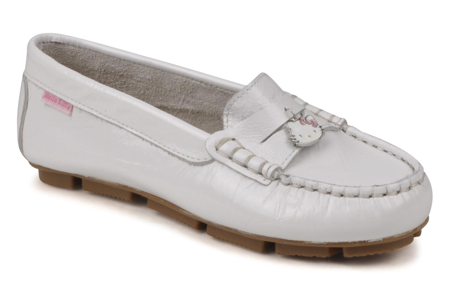 Mocassins Hello Kitty Kimoc Blanc vue détail/paire