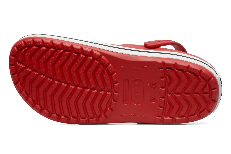 Sandales et nu-pieds Crocs Crocband M Rouge vue haut