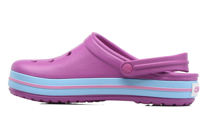 Clogs & Pantoletten Crocs Crocband W lila ansicht von vorne