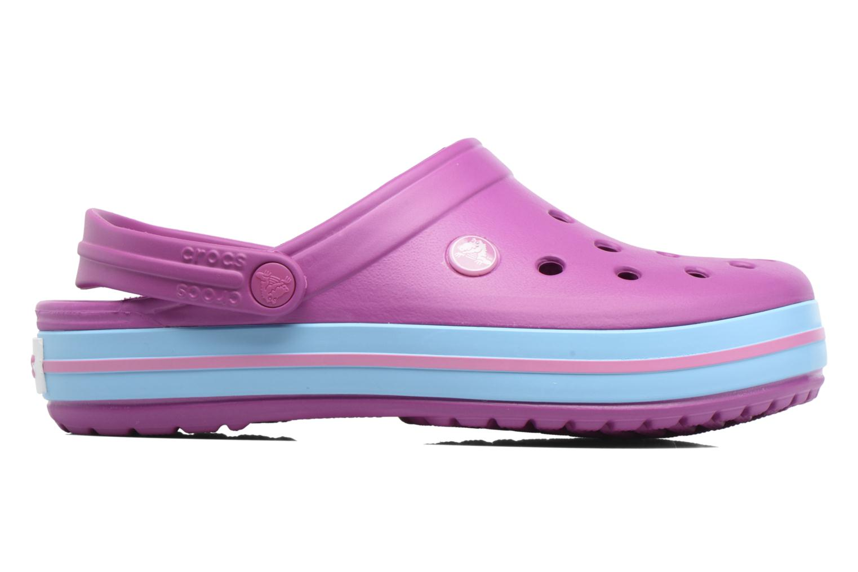 Clogs & Pantoletten Crocs Crocband W lila ansicht von hinten