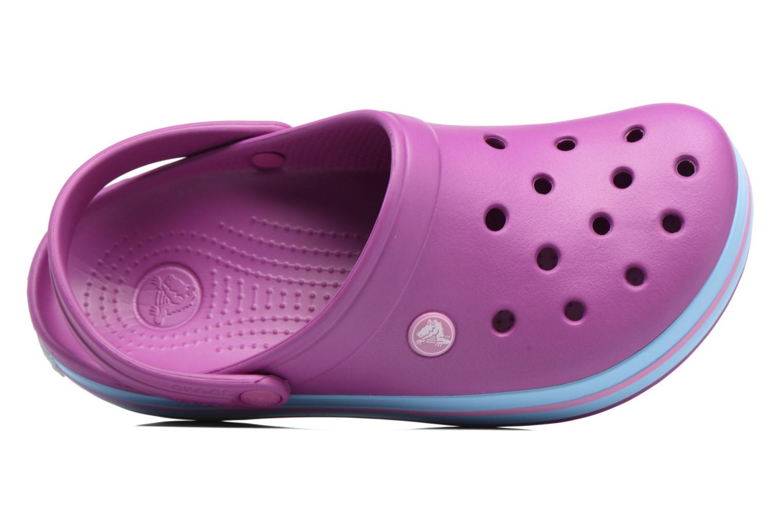 Clogs & Pantoletten Crocs Crocband W lila ansicht von links