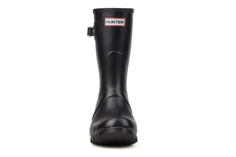 Bottines et boots Hunter Original Short Noir vue portées chaussures