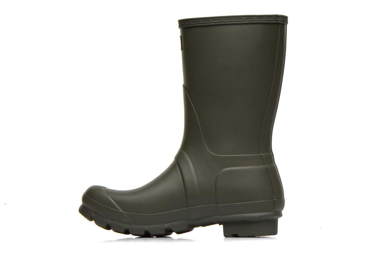 Bottines et boots Hunter Original Short Vert vue face