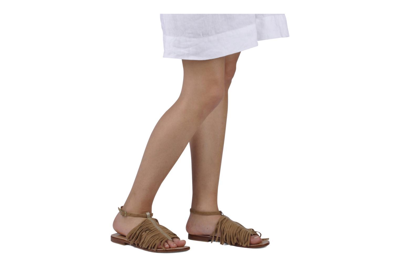 Sandales et nu-pieds Tatoosh Ava Beige vue bas / vue portée sac