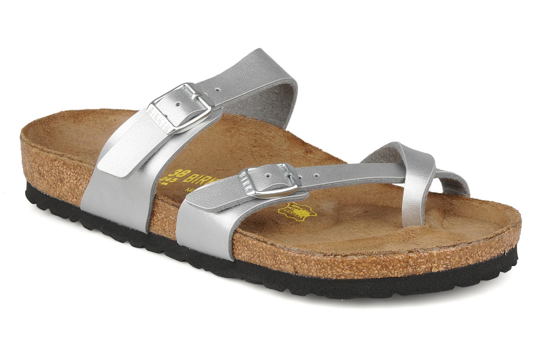 Zapatos promocionales Birkenstock Mayari (Plateado) - Zuecos   Descuento de la marca