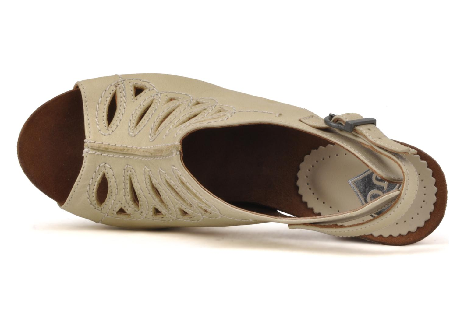 Sandals Jeffrey Campbell Tohill Beige view from the left