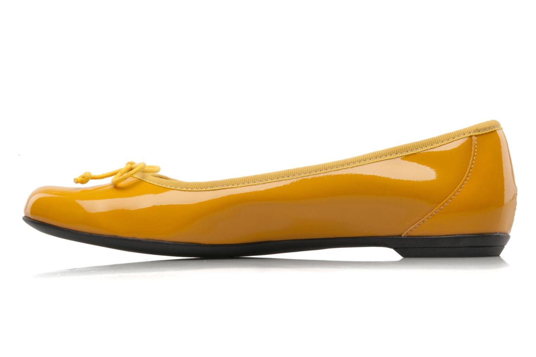 Ballerinas Valensi Vega gelb ansicht von vorne