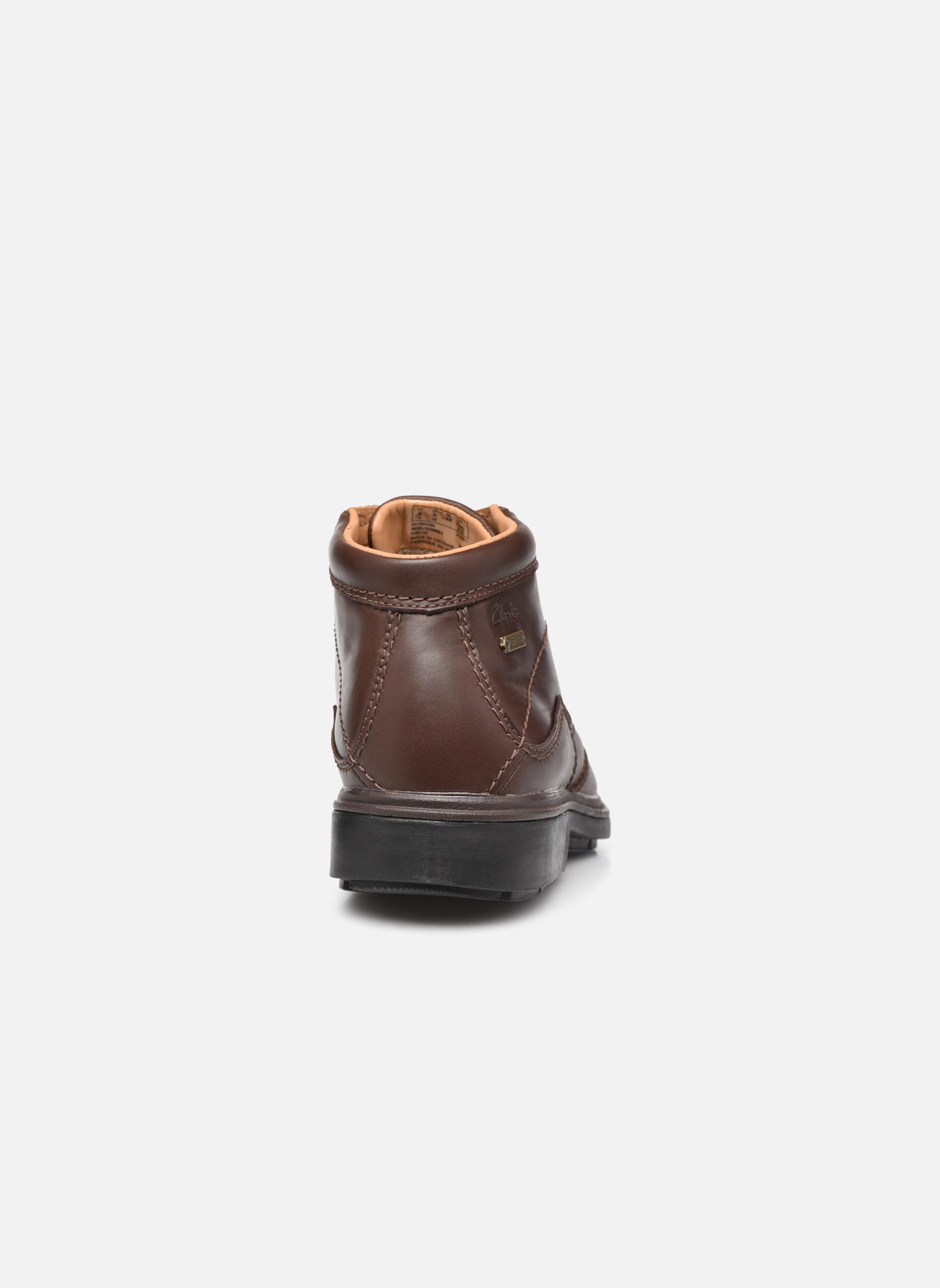 Chaussures à lacets Clarks Rockie Hi Gtx Marron vue droite