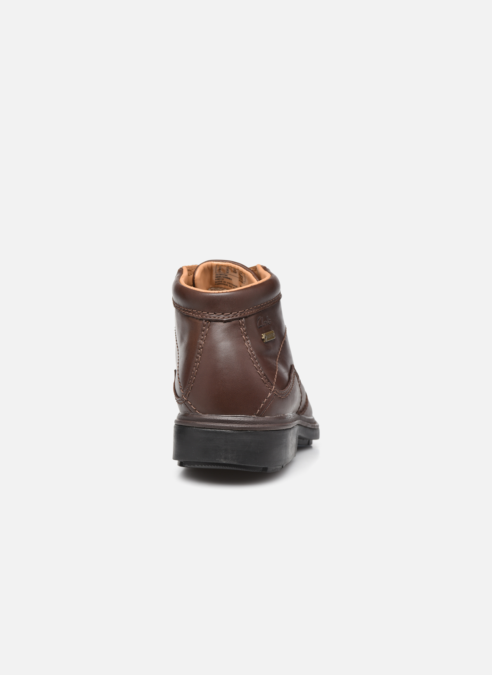 Lace-up shoes Clarks Rockie Hi Gtx Brown view from the right