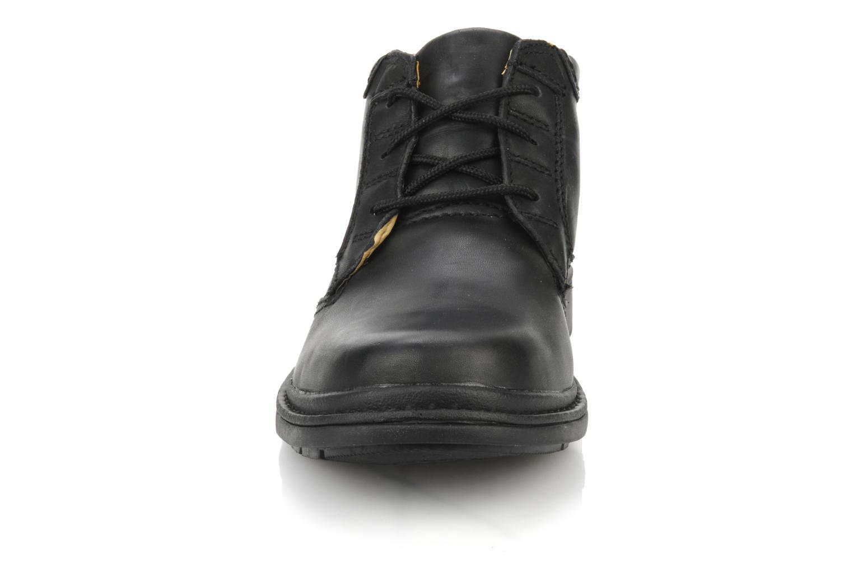 Schnürschuhe Clarks Rockie Hi Gtx schwarz schuhe getragen