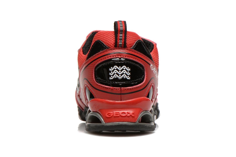 Sneakers Geox J Tornado Rood rechts