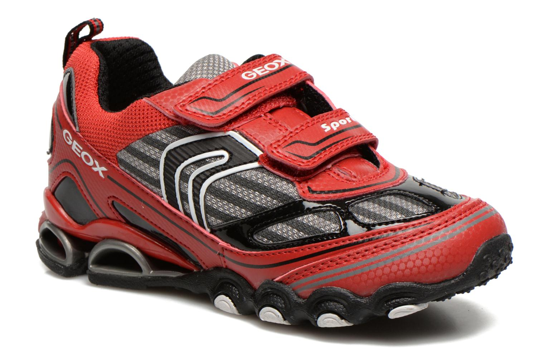 Sneakers Geox J Tornado Rood detail