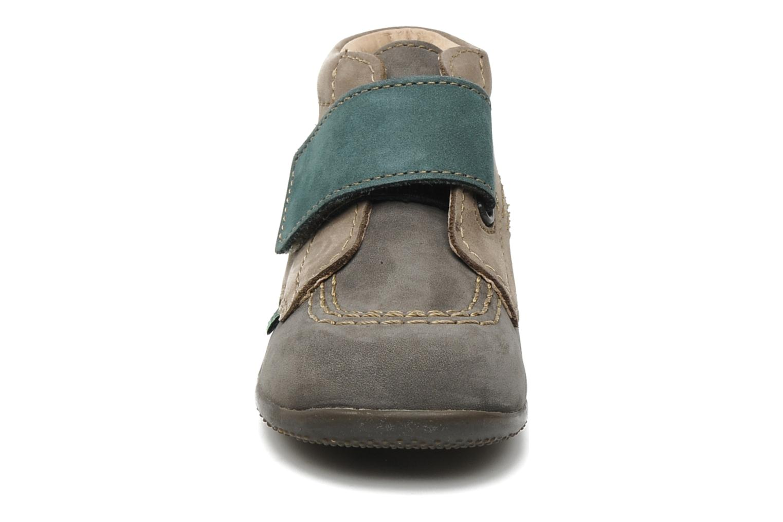 Chaussures à scratch Kickers Bilou Gris vue portées chaussures
