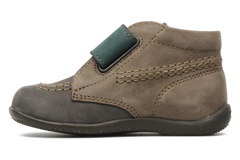 Chaussures à scratch Kickers Bilou Gris vue face