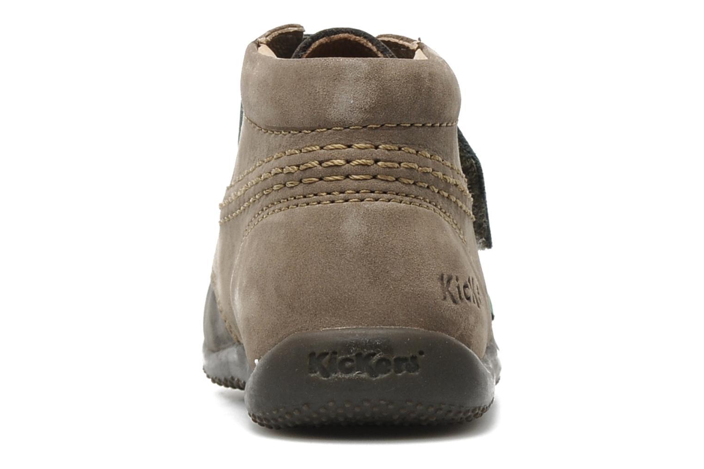 Chaussures à scratch Kickers Bilou Gris vue droite