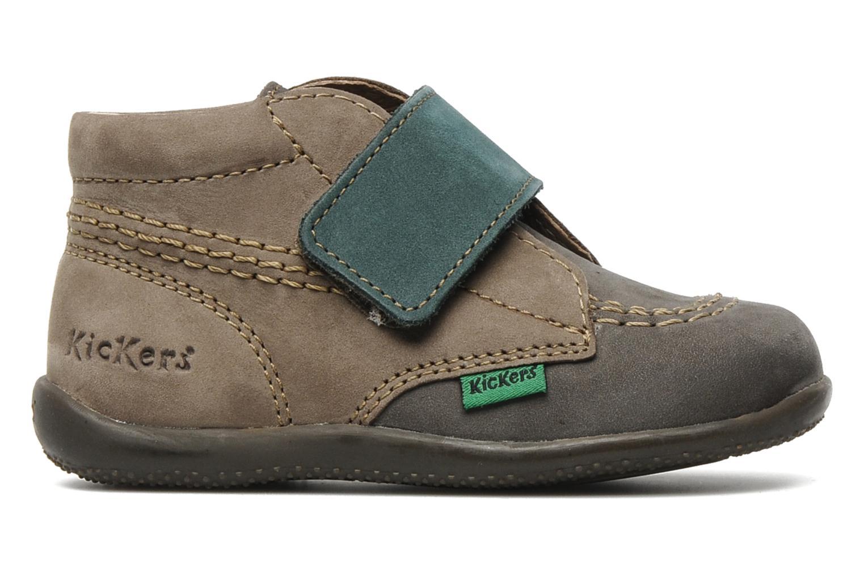Chaussures à scratch Kickers Bilou Gris vue derrière