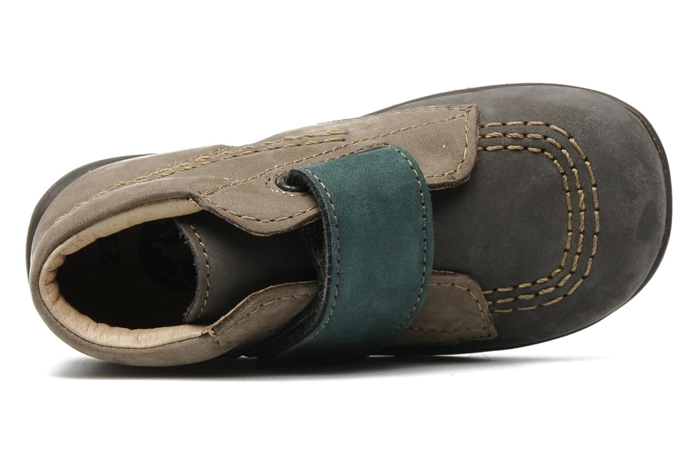 Chaussures à scratch Kickers Bilou Gris vue gauche