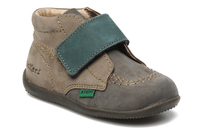 Chaussures à scratch Kickers Bilou Gris vue détail/paire