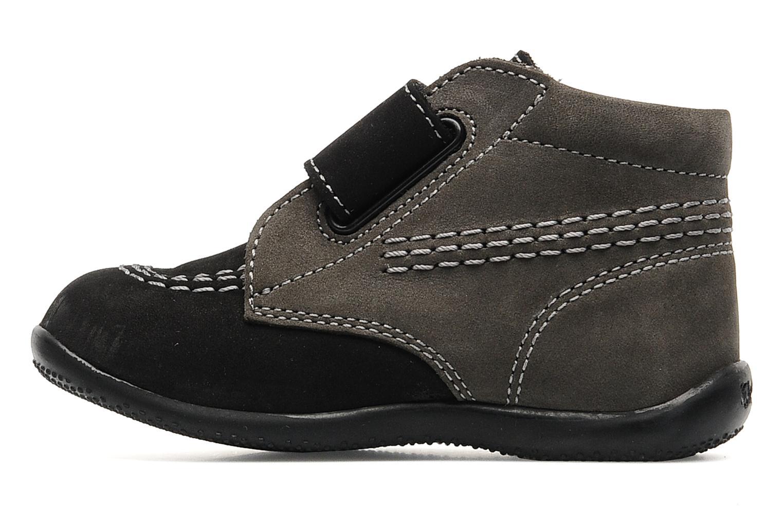 Schoenen met klitteband Kickers Bilou Zwart voorkant