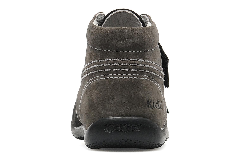 Schoenen met klitteband Kickers Bilou Zwart rechts