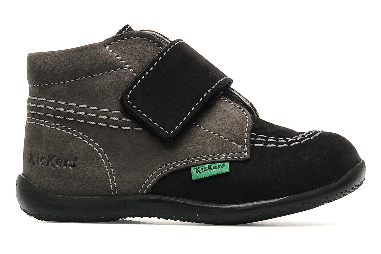 Schoenen met klitteband Kickers Bilou Zwart achterkant