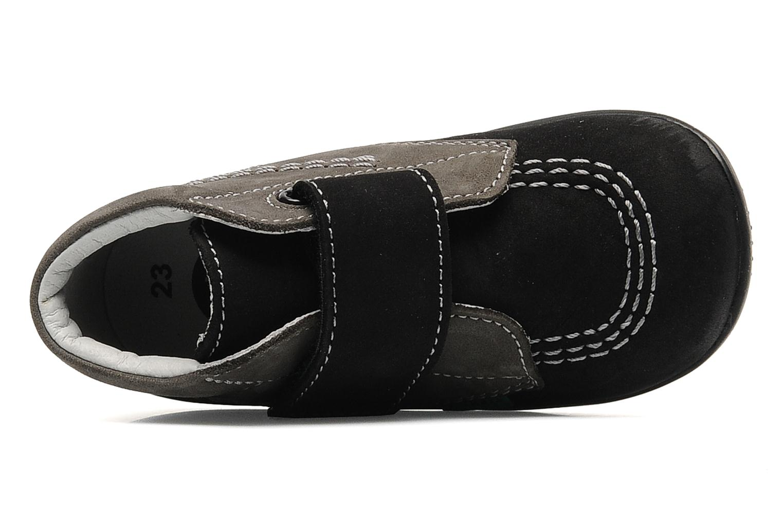 Schoenen met klitteband Kickers Bilou Zwart links