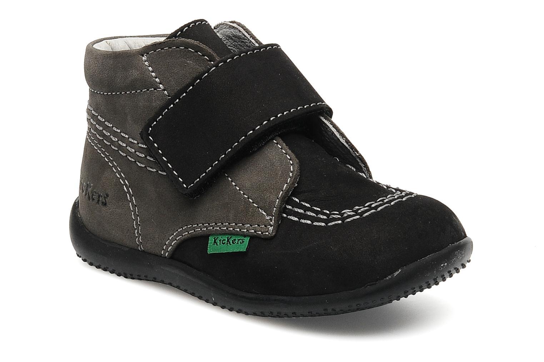 Schoenen met klitteband Kickers Bilou Zwart detail