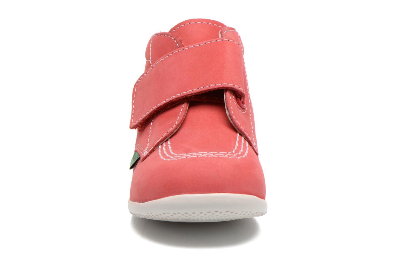 mit Klettverschluss Kickers Bilou rosa schuhe getragen
