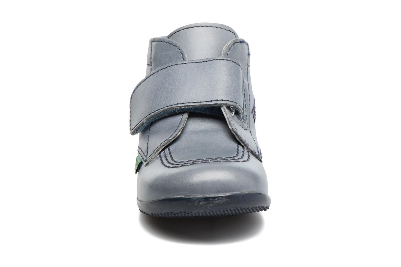 Chaussures à scratch Kickers Bilou Bleu vue portées chaussures