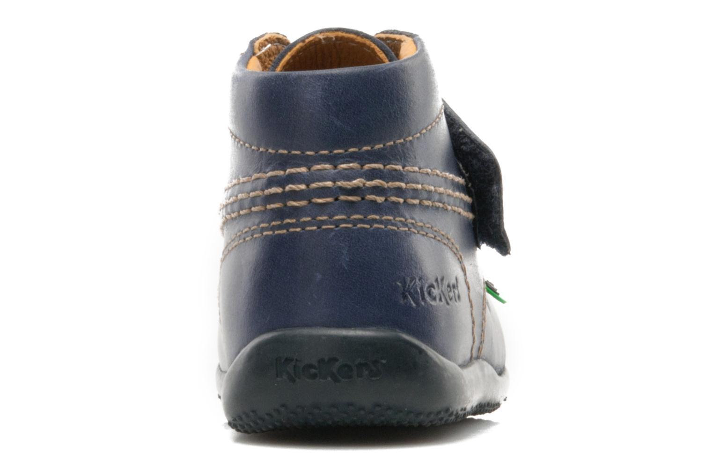 Schoenen met klitteband Kickers Bilou Blauw rechts