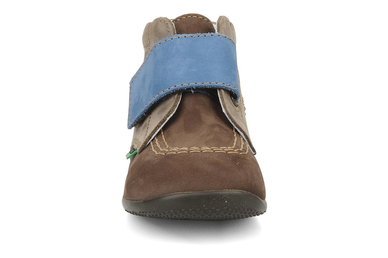 mit Klettverschluss Kickers Bilou braun schuhe getragen