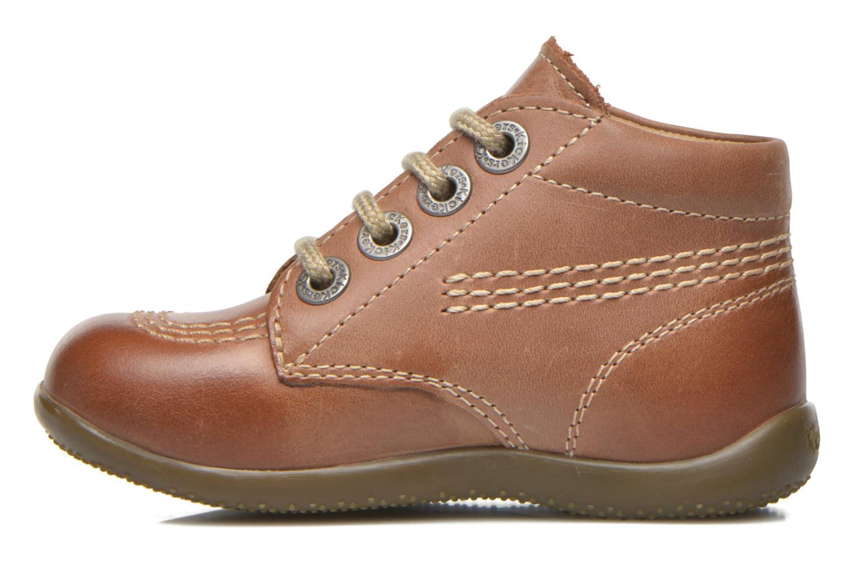 Zapatos con cordones Kickers Billy Marrón vista de frente