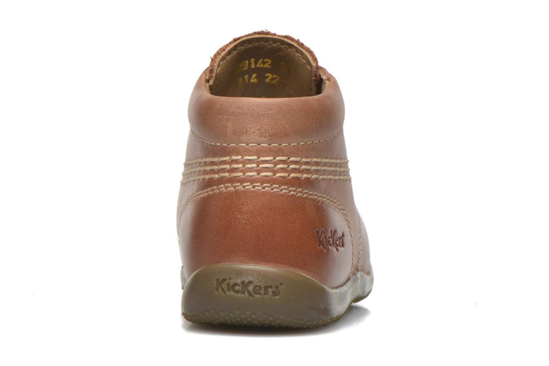 Zapatos con cordones Kickers Billy Marrón vista lateral derecha
