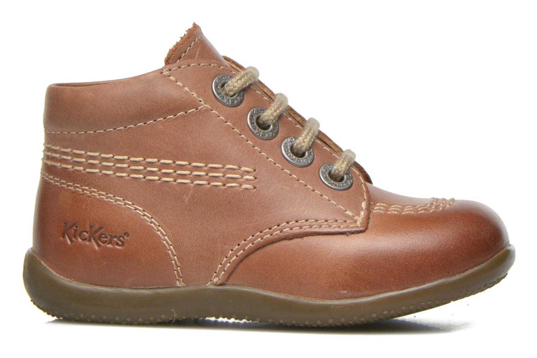 Zapatos con cordones Kickers Billy Marrón vistra trasera