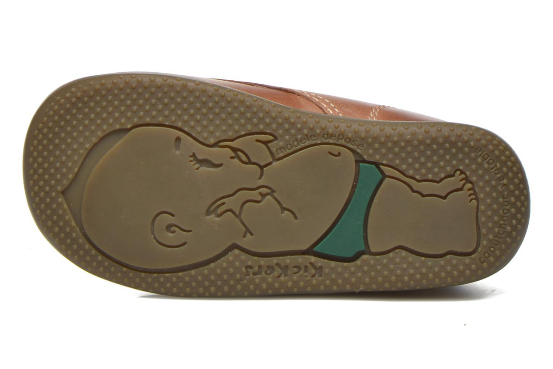 Zapatos con cordones Kickers Billy Marrón vista de arriba