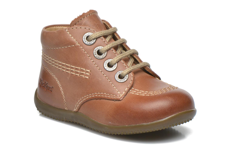 Zapatos con cordones Kickers Billy Marrón vista de detalle / par