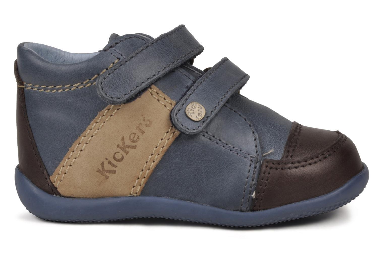 Chaussures à scratch Kickers Bishop Bleu vue derrière