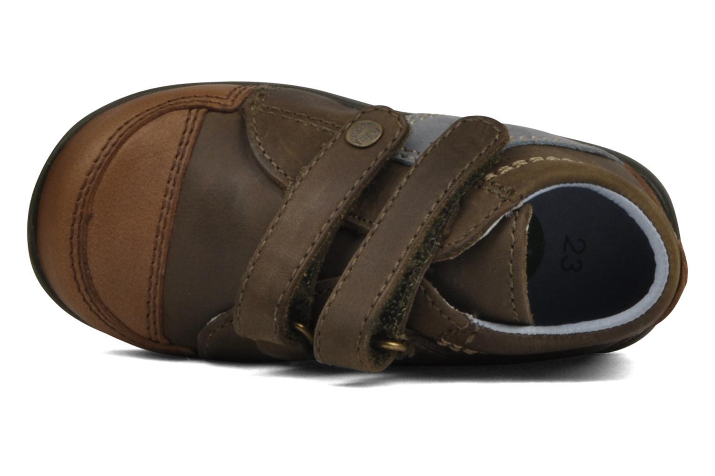 Schoenen met klitteband Kickers Bishop Bruin links