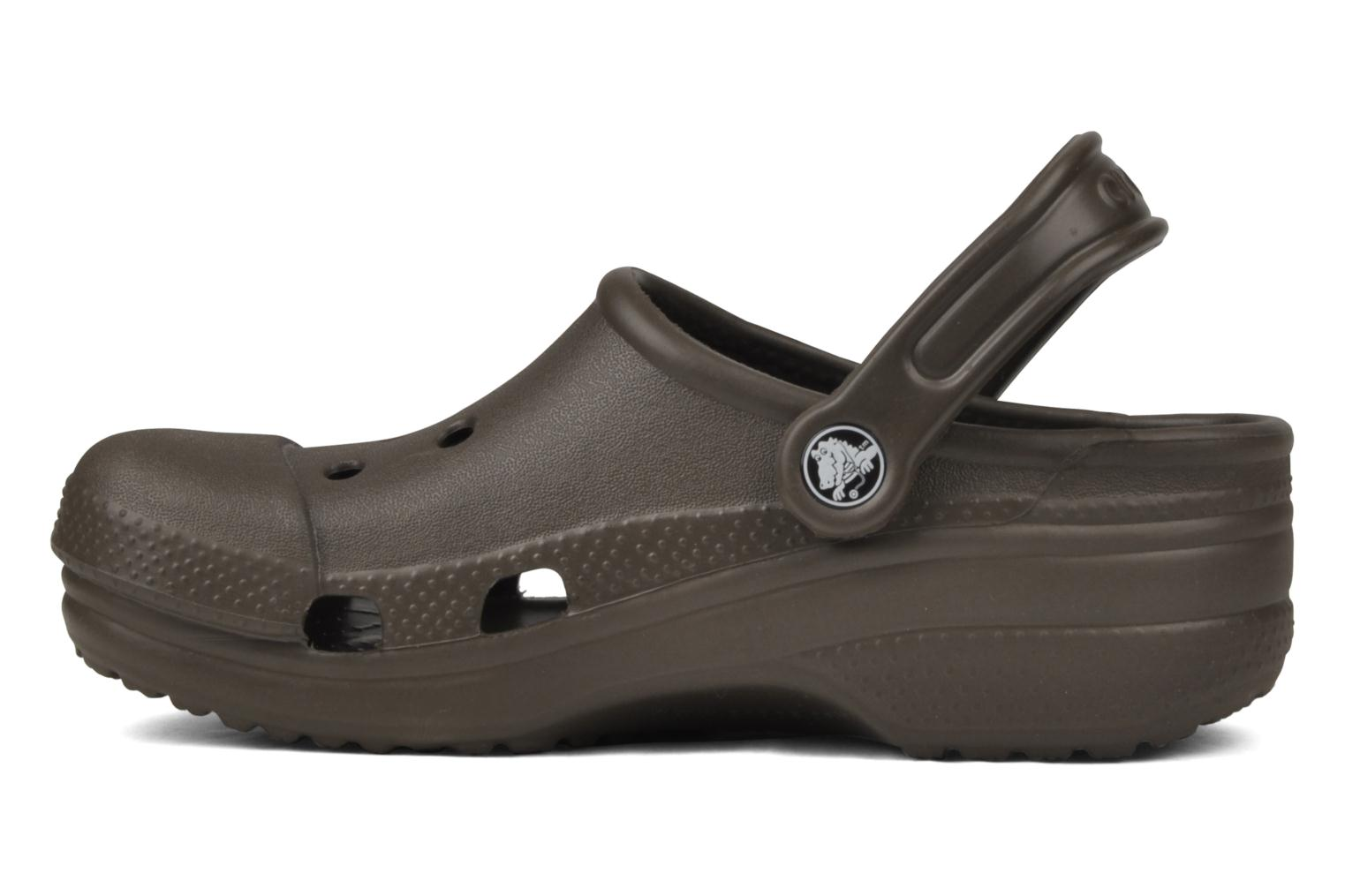 Mules et sabots Crocs Silver Cloud Marron vue face